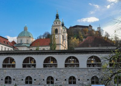 Market, cathedral and the castle