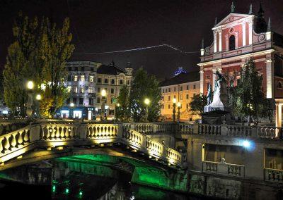 Preseren Square with Triple Bridge