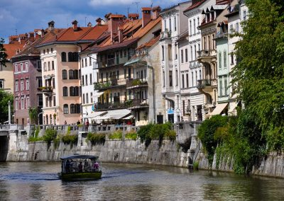 River Ljubljanica and old houses