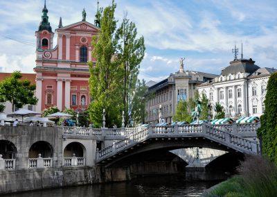 Triple Bridge and the Preseren Square